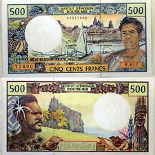 Billet de  500 Francs CFP  Polynesie Tahiti  Caledonie France Outre Mer