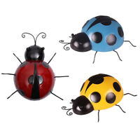 3Pcs/Set Metal Ladybug Wall Sculpture, Indoor/ Outdoor Decoration, Wall Art