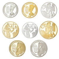 8X Egypt God Goddess Series Anubis Luck Challenge Commemorative Coin Collectible