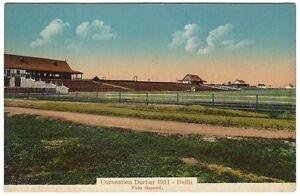 India 1911 Coronation Durbar Delhi – Polo Ground vintage color postcard