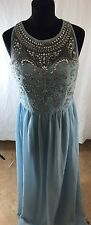New Cotton Club Blue Embellished Maxi Size 12