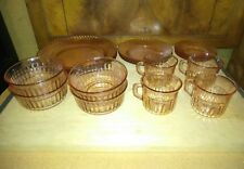 Fortecrisa Mexico Pink Glass Dinnerware Service for 4  20 piece set