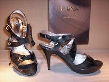 Scarpe sandali eleganti Elena donna tacchi alti a spillo plateau pelle 38 39 40