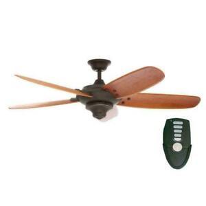 Home Decorators Altura 56 in. Oil Rubbed Bronze Ceiling Fan with Remote Control