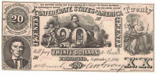 U.S. (Confederate States) - September 2, 1861 $20.00 Banknote