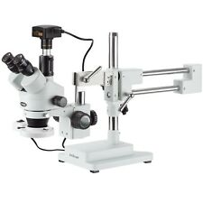 35x 180x Trinocular Stereo Microscope Fluorescent Ring Light 14mp Usb3 Came