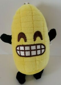 """Smiling Funny Corn on the Cob Elote 5"""" Keychain Plush Toy NEW Japan"""