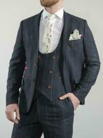 MEN'S 3 PIECE BLUE CHECK TWEED SUIT - GREAT PRODUCT - AMAZING VALUE!