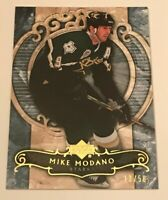 Mike Modano /50 made Artifacts Gold Insert Parallel Hockey Card Stars 2007-2008