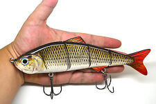 EXTRA LARGE 8'' Swimbait Multi Jointed Fishing Lure photo realistic and action