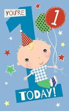 Carte d'anniversaire - garçons 1st Anniversaire - Bleu 1 Today (A102)