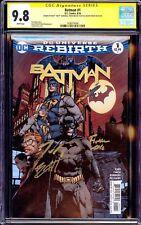 BATMAN 1 CGC 9.8 SS 3x SIGNED DAVID FINCH Tom King Matt Banning 2016 DC NM