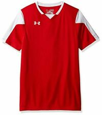 Under Armour Boys Large Red and White Maquina Soccer Jersey 1270940 New