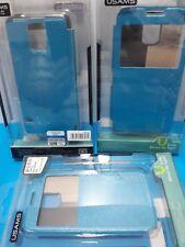 Samsung Galaxy S5 -  Slim Flip Case Cover With Window - BLUE