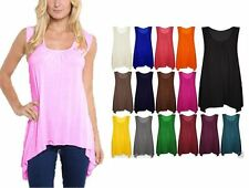 Women's Sleeveless Viscose Semi Fitted Vest Top, Strappy, Cami Tops & Shirts