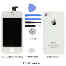 LCD/Digitizer Assembly with Back Cover & Home Button for Apple iPhone 4  - WHITE