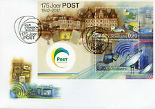 Luxembourg 2017 FDC POST Luxembourg 175 Yrs 2v M/S Cover Postal Services Stamps