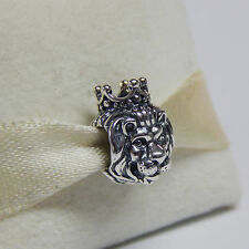 New Authentic Pandora Charm King Of The Jungle 791377 W Tag & Suede Pouch