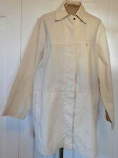 BLUE WILLI'S Denmark Natural or Cream Cotton 3/4 Length Jacket Coat - L - EUC