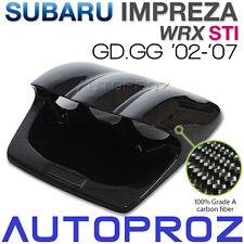 Carbon Fiber Triple Gauge Meter Hood Pod Racing For Subaru WRX STI GD GG 2002-07