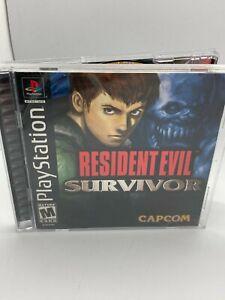 PS1 - Resident Evil Survivor - Playstation 1 - Complete CIB Black LABEL