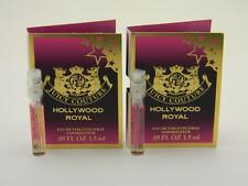 2 x Juicy Couture Hollywood Royal EDT Vial Sample 1.5ml 0.05 fl oz