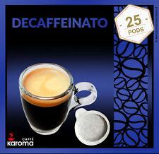 25 Italian Espresso Pods ESE. 100 % Arabica (Decaffeinated)EASY SERVE PAPER PODS