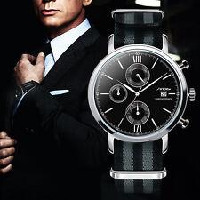 Montre Homme Top Marque Sinobi James Bond 007 Spectre Date Chronograph Etanche
