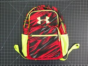 """16""""x12""""x7.5"""" UNDER ARMOUR Backpack Red Black Neon"""