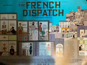 The French Dispatch UK Cinema Quad Poster Wes Anderson 2021 RARE