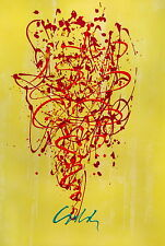 Chandelier, (Mixed Media Lithograph & Acrylic), Limited Edition, Dale Chihuly