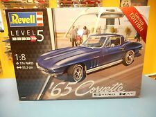 "REVELL '65 CORVETTE STING RAY  LIMITED EDITION   1/8  SCALE   SKILL 5   ""NIB"""