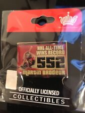 MARTIN BRODEUR NEW JERSEY DEVILS RECORD 552 WINS PIN #1 3/17/09 RARE