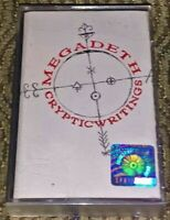 Megadeth ‎– Cryptic Writings. Mint Cassette Tape Thrash/Heavy Metal Capitol Rare
