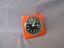 Edad anaranjado jerger despertador made in Germany carcasa de metal vintage alarma Clock