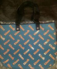 KITSON LA Los Angeles Tote Shoulder Bag Shipper Blue Peach New w/ Tags free shpg