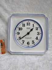 Küchen Wand Uhr Keramik  STAIGER Quarz - West Germany - handgemalt -fünktionsfäh