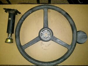Daewoo/Caterpillar Steering Column & Wheel w/ cap for Char Lynn Orbitrol