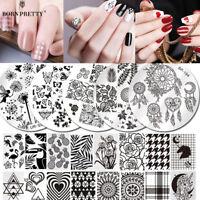 BORN PRETTY Nail Art Pochoir Stamping Template Plaque Ongle Acier Stamp Décor