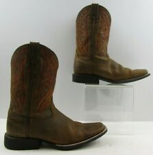 Ladies Ariat Brown Leather Square Toe Cowboy Western Boots Size: 5
