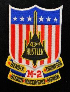 BEAUTIFUL B-58 Hustler 43rd Bomb Wing Patch Supersonic SAC Bomber USAF Convair