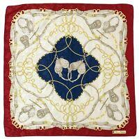 BLU DI BALESTRA BRIDLE STRAPS MULTI COLOR PRINTED Silk Scarf 34/35 INCHES