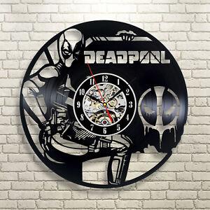 Deadpool Vinyl Wall Clock Record Gift Decor Poster Sing Woman Man Feast Day