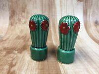 Vintage Cactus Salt and Pepper Shakers Ceramic Arizona Desert Souvenir