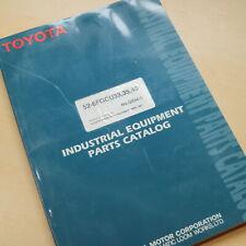 TOYOTA 52-6FGCU33 6FGCU35 6FGCU45 Forklift Parts Manual book catalog list spare