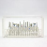 16 pcs FG 1.6 Dental Diamond Burs Set Porcelain Shouldered Abutment