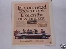 1978 OLDS FIRENZA ORIGINAL VINTAGE AD