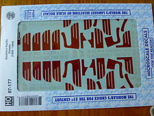 MMicroscale Decal HO #87-177 Southern Pacific - SP -- Diesels (gray w/red wings,