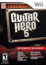 Guitar Hero 5 (Nintendo Wii, 2009)
