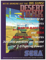 SEGA DESERT TANK ORIGINAL NOS VIDEO ARCADE GAME ADVERTISING SALES FLYER BROCHURE